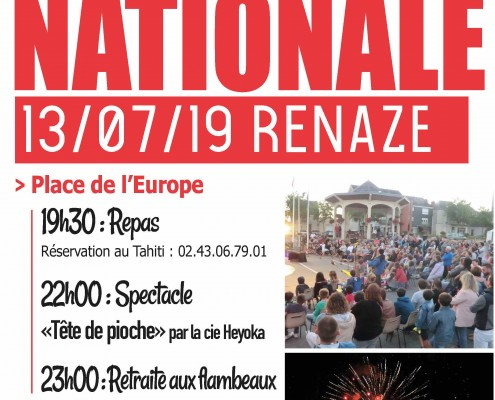 2019-07 Fête nationale affiche et flyers